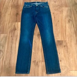 7 For All Mankind Mid-Rise Straight Leg Jeans